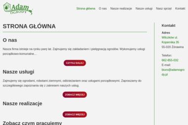Firma Ogólnobudowlana Adam Sieradzki Usługi ogrodnicze - Prace działkowe Wilczków