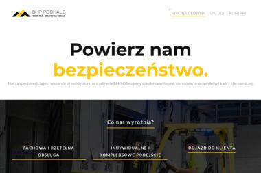 Firma Szkoleniowo-Usługowa BHP mgr inż. Martyna Cichoń - Szkolenia Sromowce niżne