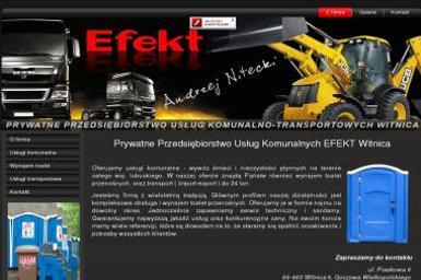 Prywatne Przedsiębiorstwo Usług Komunalnych EFEKT - Wywóz Gruzu Witnica