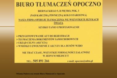 Biuro Tłumaczeń Opoczno - Tłumacze OPOCZNO