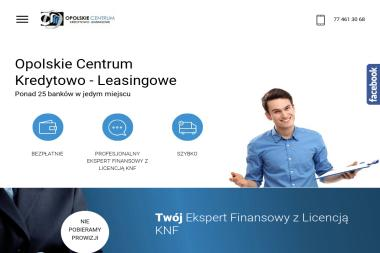 Opolskie Centrum Kredytowo - Leasingowe - Kredyt konsolidacyjny Strzelce Opolskie