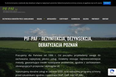 PIF-PAF S.C - Dezynsekcja i deratyzacja Pozna艅
