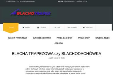 Blachotrapez - Krycie dachów bolesław