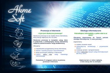 Akmesoft - Strony internetowe Nowa Sól