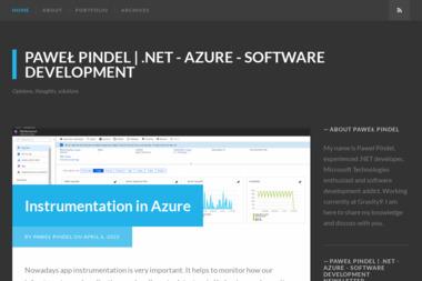 Paweł Pindel NETSharp Development - Programista Zembrzyce