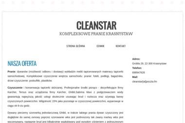 Cleanstar - Pranie Tapicerki Samochodowej Krasnystaw