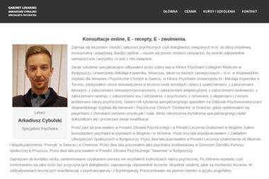 Specjalista Psychiatra Arkadiusz Cybulski - Psycholog Bydgoszcz