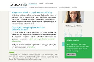 M. Małek - Psycholog, Psychoterapeuta - Psycholog Świdnica
