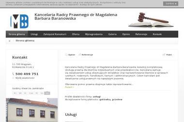 Kancelaria Radcy Prawnego dr Magdalena Barbara Baranowska - Windykacja Mrągowo
