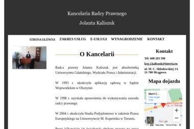 KANCELARIA RADCY PRAWNEGO JOLANTA KALISZUK - Windykacja Mrągowo