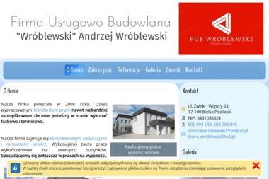 Firma Usługowo Budowlana Wróblewski Andrzej Wróblewski - Piasek Płukany Bielsk Podlaski