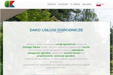 DAKO - Projektowanie ogrodów Syców