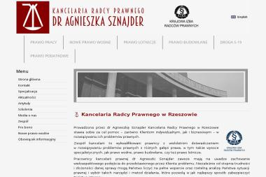 Kancelaria Radcy Prawnego Dr Agnieszka Sznajder - Radca prawny Rzeszów