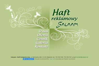 Salaam - Haft Reklamowy - Hafciarnia Białystok