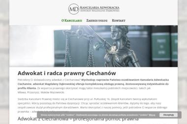 Kancelaria Adwokacka Adwokat Magdalena Dąbrowska - Kancelaria prawna Ciechanów