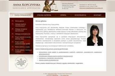 Kancelaria Adwokacka Adwokat Anna Kopczyńska - Adwokat Łódź