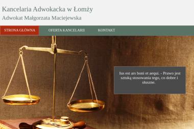 Adwokat Małgorzata Maciejewska - Kancelaria prawna Łomża