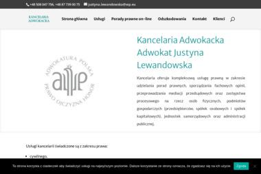 Kancelaria Adwokacka Adwokat Justyna Lewandowska - Prawo Rodzinne Suwałki