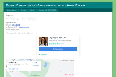 Gabinet Psychologiczno-Psychoterapeutyczny Agata Rokicka - Psycholog Jelenia Góra