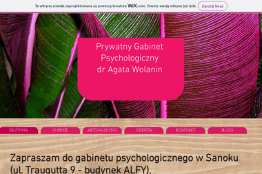 Prywatny Gabinet Psychologiczny dr Agata Wolanin - Psycholog Sanok