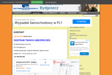 CENTRUM TWOICH UBEZPIECZEŃ - Ubezpieczenie samochodu Bydgoszcz
