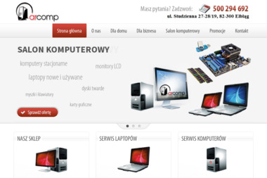 ARCOMP - Sklep i serwis komputerowy - Firma IT Elbląg