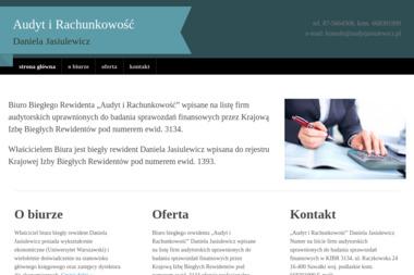 """""""Audyt i Rachunkowość"""" Daniela Jasiulewicz - Biznes plan Suwałki"""