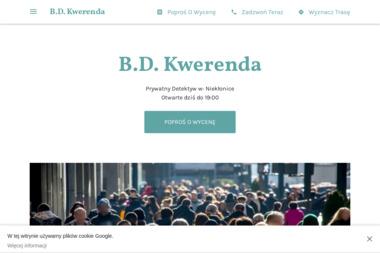Prywatny Detektyw - B.D. Kwerenda - Firma Detektywistyczna Niekłonice