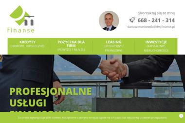 DM-Finanse Dariusz Mańkowski - Kredyt dla firm Siedlce