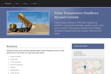 Firma Transportowo-Handlowa Ryszard Giermek - Żwir Ozdobny Kraków