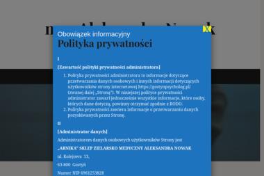 Gabinet Psychologiczno – Psychoterapeutyczny mgr Aleksandra Nowak - Psycholog Gostyń