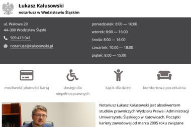 Kancelaria Adwokacka adw. Łukasz Kałusowski - Adwokat Wodzisław Śląski