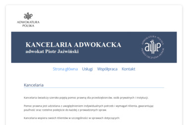 Kancelaria Adwokacka - adwokat Piotr Jaźwiński - Kancelaria Rozwodowa Olkusz