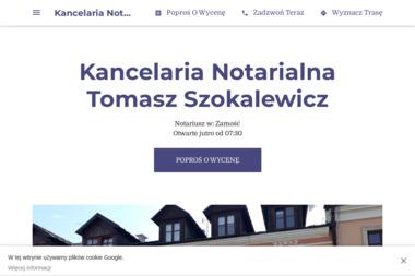 Kancelaria Notarialna Tomasz Szokalewicz - Kancelaria prawna Zamość