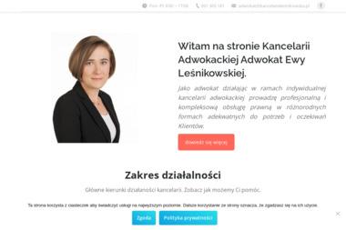 Kancelaria Adwokacka - Adwokat Ewa Leśnikowska - Adwokat Białystok