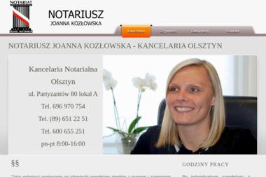 Kancelaria Notarialna - Notariusz Joanna Kozłowska - Notariusz Olsztyn