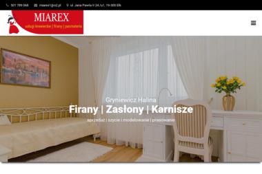 """Zakład Produkcyjno-Usługowo-Handlowy """"Miarex"""" - Usługi Krawieckie Ełk"""