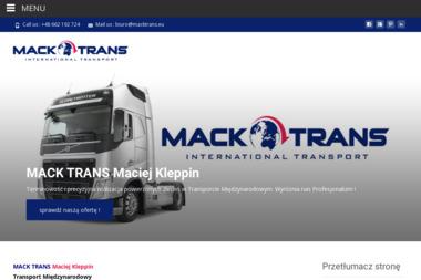 MACK TRANS - Transport międzynarodowy Bolszewo