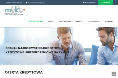 MBKU - Małopolskie Biuro Kredytowo - Ubezpieczeniowe - Kredyt konsolidacyjny Bochnia