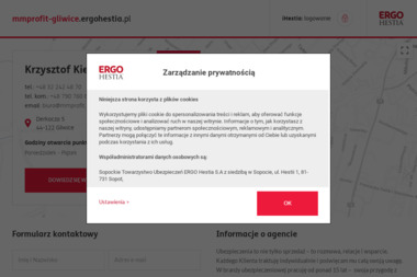 Krzysztof Kiernicki ERGO Hestia - Ubezpieczenie firmy Gliwice