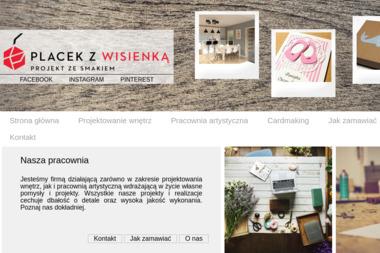 """PRACOWNIA ARTYSTYCZNA I PROJEKTOWANIE WNĘTRZ  """"PLACEK Z WISIENKĄ"""" - Architekt wnętrz Wieluń"""