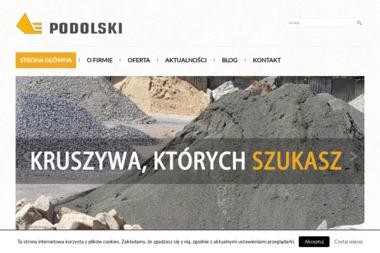 Podolski Kruszywa - Podsypka Zielonki