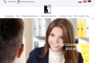 Firma PRO-TOM SECURITY Sp z o.o. - Agencja Detektywistyczna Łódź