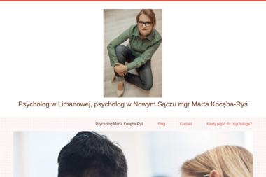 Psycholog mgr Marta Kocęba-Ryś - Psycholog Limanowa