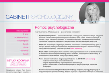 Gabinet Psychologiczny - mgr Karolina Maniewska - Psycholog Skórzewo