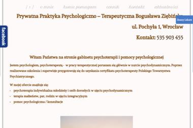Prywatna Praktyka Psychologiczno – Terapeutyczna Bogusława Ziębińska - Psycholog Zgorzelec