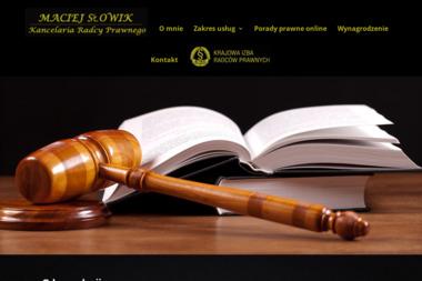 Kancelaria Radcy Prawnego MACIEJ SŁOWIK - Obsługa prawna firm Elbląg