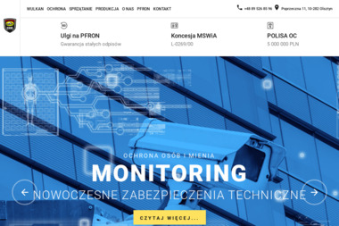 Wulkan Ochrona - Agencja ochrony Ostróda