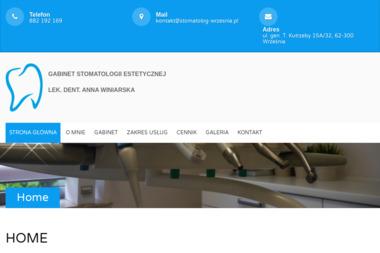 Gabinet Stomatologii Estetycznej Anna Winiarska - Ortodonta Września