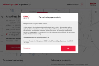 Arkadiusz Świerk ERGO HEstia - Ubezpieczenie firmy Zgorzelec